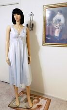 "Olga vintage ""Rare"" Ballerina Negligee Silvery Blue style 79001 117 size L large"