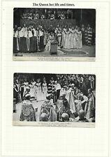 10 Vintage Postcards, Early Life and Coronation of Elizabeth II