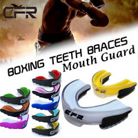 CFR Gel Gum Mouth Guard Shield Case Teeth Grinding Boxing MMA Sport MouthPiece S