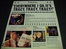 Madonna Dick Tracy - Dick Tracy - Dick Tracy original 1990 Promo Display Ad mint