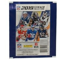 Panini - 2019 NFL Sticker Collection - PACK (5 stickers & 1 Card) - New