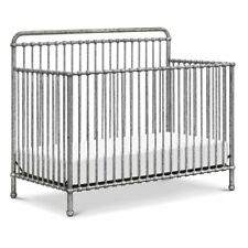 Million Dollar Baby Classic Winston 4 in 1 Convertible Crib in Vintage Silver