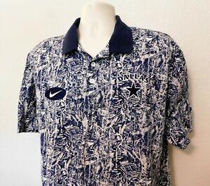 Dallas Cowboys Polo Shirt Vintage Nike Team Sports XL Blue Short Sleeve Cotton