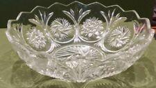 "8 3/4"" Crystal Glass Fruit Bowl"