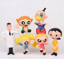 "The Powerpuff Girls (6pc Set) 2-1/2""- 4"" Birthday Cake Topper Figurines Set"