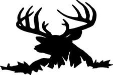"Deer BIG Buck standing in field Sticker BACK Glass decal  10"" x 15"" many colors"