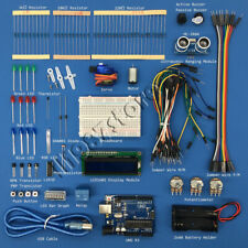Ultrasonic Starter Beginner Learning Kit for Arduino Uno R3 LCD1602 Servo