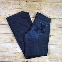 JOE'S Jeans Phoenix Lowrise Boot Cut Dark Wash Distressed Womens Size 29 (30x31)