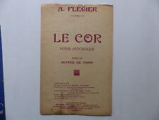 Partition Le cor poésie de ALFRED DE VIGNY A.FLEGIER