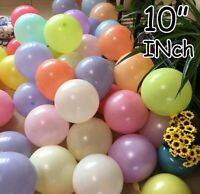 "100Pcs 10""  Macaron Candy Pastel Latex Balloon Wedding Party Decor Birthday"