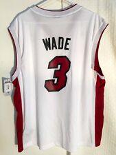 Adidas NBA Jersey Miami Heat Dwayne Wade White Throwback sz L