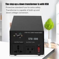 500W Voltage Converter Transformer Step Up/Down Regulator/Stabilizer AC 110-220V