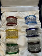 New Faberge Xenia Crystal Napkin Rings