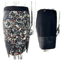 Save The Queen Skirt Embellished Sequins Tapestry Roses Metallic M