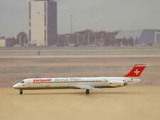"SWISSAIR MD-81 (HB-IND) ""Bachenbülach Servus Wien"", Dragon Wings, 1:400, rare!"