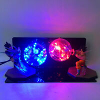 Anime Dragon Ball Z VEGETA &GOKU Action Figure Power Up Led Light Lamp Whole Set