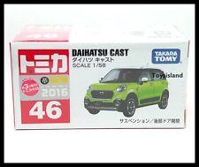 TOMICA #46 DAIHATSU CAST 1/58 TOMY 2016 JUNE NEW MODEL DIECAST CAR