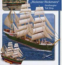 Rickmer Rickmers Großsegler von 1896 1:200 Karton Bastelbogen J. F. Schreiber