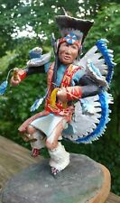 2  Handmade Statues, Fancy Dancer and Northern Plains Traditional Dancer
