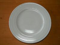 """Tabletops NATALIE WHITE Dinner Plate 10 3/8"""" Embossed Rings 1 ea   10 available"""