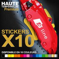 Stickers autocollants adhésifs pour étrier de frein - AUDI S-Line TT A3 A4 A5 A6