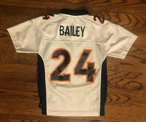 Champ Bailey #24 Denver Broncos Reebok NFL Football VTG Jersey Youth Small/8