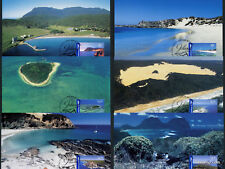 2007 Island Jewels Maxi Cards Set Used Stamp Australia