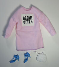 Barbie Fashionista 136 Dream Often Curvy Doll Clothes Shoes Purse Mattel