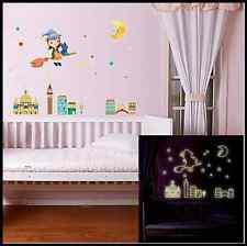 Glow in The Dark Moon Girl Luminous DIY Art Removable Bedroom Wall Sticker Decal