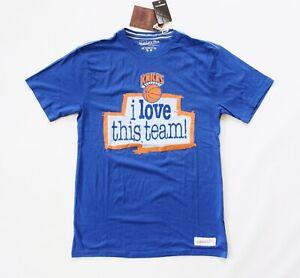 Mitchell & Ness NBA New York Knicks Short Sleeve Tee – Blue / M