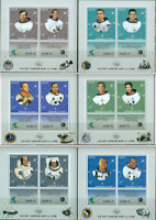 Apollo Moon Program Space NASA Astronauts 6 MNH stamp sheets set