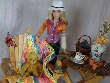 "AllforDoll OOAK DIORAMA 1:4 scale Furniture SET for 16"" Numina Tonner BJD Dolls"