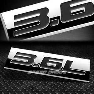 METAL EMBLEM CAR BUMPER TRUNK FENDER DECAL LOGO BADGE CHROME BLACK 3.6L 3.6 L