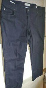 Brax Feel Good Cooper Fancy Regular Fit Navy Blue Pants Mens 42/32