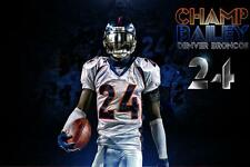 NFL Denver Broncos Champ Bailey #24 24x36in Banner Art Bar Poster