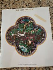 1982 NEENAH PAPERS ADVERTISING BOOK~KINUKO CRAFT STAINED GLASS ART ILLUSTRATIONS