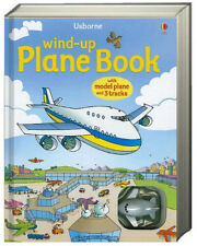 Usborne Wind-Up Plane Book with Model Plane and 3 Tracks  (board book) NEW
