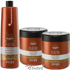 Nourishing Kit Argan Seliar ® Shampoo 1Lt + 2 x Mask 1Lt Linseed Oil Silk Prote.