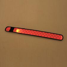 LED Cycling Outdoor Slap Glowing Wristband Reflective Gear Armband Bracelets S-L