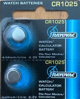 2-CR 1025 Rayovac Watch Battery Best By 03/2023 MADE IN USA! Authorized Seller.