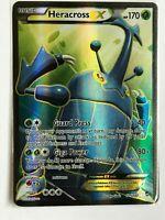 Heracross EX FULL ART ULTRA RARE 105/111 XY Furious Fists Pokemon NM HOLO