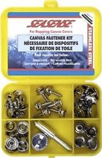 SS Canvas Marine Boat Top Cover Fastner Kit TOOL CAPS SOCKETS STUDS MALE SNAPS