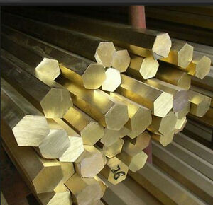 BRASS HEXAGON BAR /ROD - SIZES 3MM - 100MM AND ALL LENGTHS - MODEL MAKING