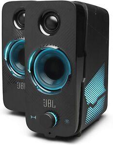 JBL Quantum Duo Gaming Speakers USB Powered Pc Speakers Powerful JBL Sound Black