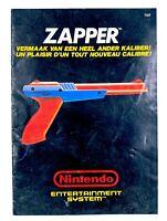 Notice Pistolet Gun Zapper Nintendo Entertainment System NES PAL FRA