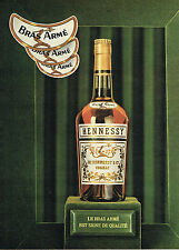 PUBLICITE ADVERTISING 124  1961  HENESSY  cognac BRAS ARME