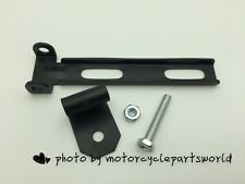Black Solo Seat Mount Kit Front Bar w/Swivel Bracket for Harley Chopper Bobber