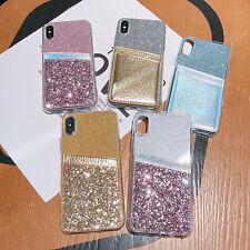 For Xiaomi Mi 9 8 Redmi 7A Nokia 4.2 2.2 Soft TPU Bling Glitter Card Case Cover