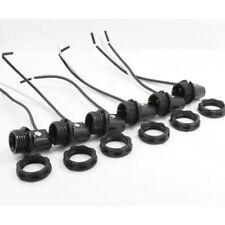 """6PCS Candelabra Base (E12) Sockets w/Screw Rings 8"""" Wire Leads"""