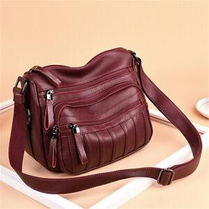 Women Lady Leather Handbag Shoulder Bag Messenger Crossbody Tote Purse Satchel